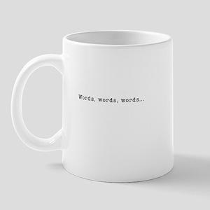 Words words words black Mugs