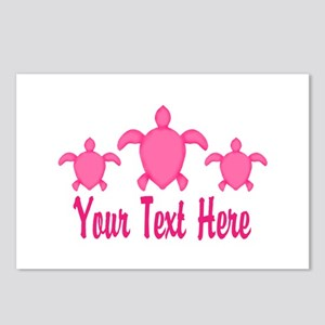 Pink Sea Turtle Name Postcards (Package of 8)