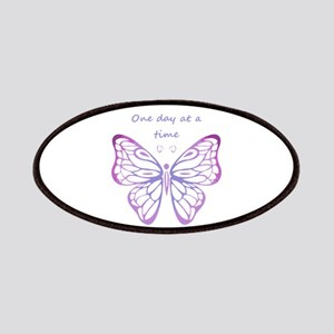 One Day at a Time Quote Butterfly Art Patch