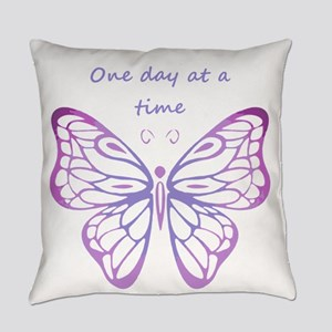One Day at a Time Quote Butterfly Everyday Pillow