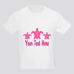 Pink Sea Turtle Name T-Shirt