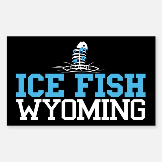 Ice Fish Wyoming Rectangle Decal