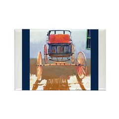 Old Horse Buggy Rectangle Magnet (10 pack)