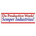 Semper Industrius-2 Bumper Sticker