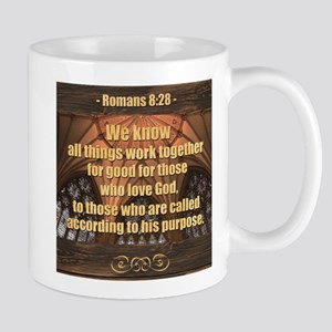Romans 8:28 -- Inspirational Bible Verse Coll Mugs