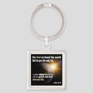 "John 3:16. ""For God so loved the world t Keychains"