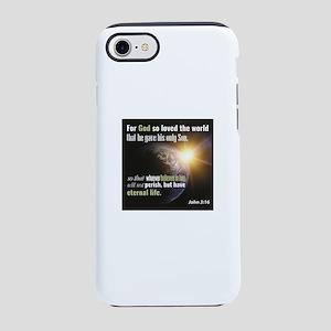 """John 3:16. """"For God so loved iPhone 8/7 Tough Case"""