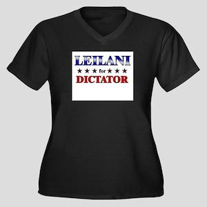 LEILANI for dictator Women's Plus Size V-Neck Dark
