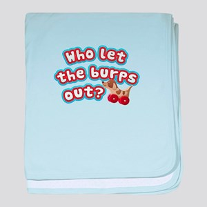 Who let the burps out? Funny Baby Shi baby blanket