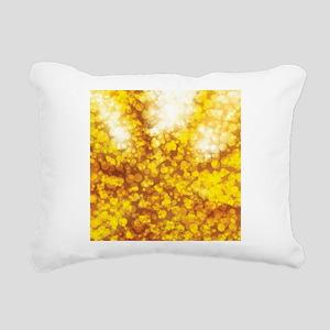 Golden Bokeh Glitter Shi Rectangular Canvas Pillow