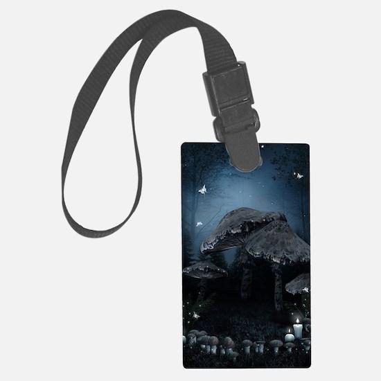 Dark Mushrooms Luggage Tag