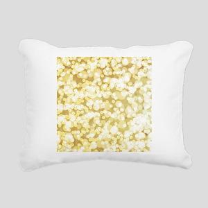 Golden Bokeh Art Rectangular Canvas Pillow