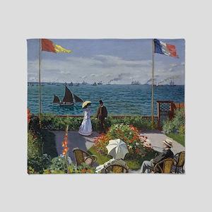Claude Monet Jardin a Sainte Adresse Throw Blanket