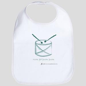 SongShirts: Rum Pa Pum Pum Green Bib