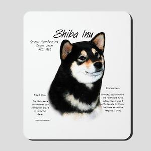 Shiba Inu (blk/tan) Mousepad