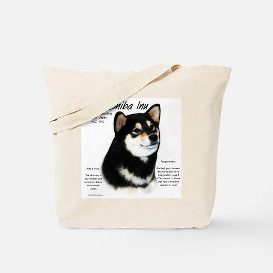 Shiba Inu (blk/tan) Tote Bag