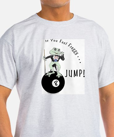 8 Ball Billiard Frog Cartoon White T-Shirt