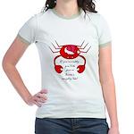 DON'T BE CRABBY FOR CHRISTMAS Jr. Ringer T-Shirt