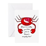 DON'T BE CRABBY FOR CHRISTMAS Greeting Cards (Pk o