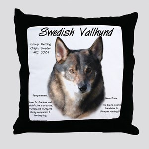 Swedish Valhund Throw Pillow