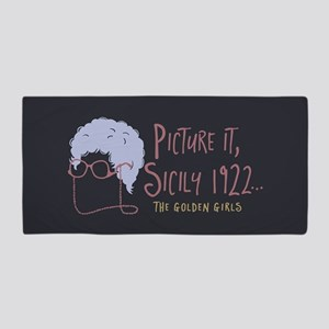 Golden Girls Picture It Beach Towel