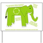 Elephant Facts Yard Sign