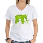 Elephant Facts Women's V-Neck T-Shirt