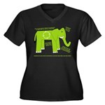 Elephant Facts Women's Plus Size V-Neck Dark T-Shi