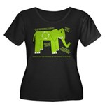 Elephant Facts Women's Plus Size Scoop Neck Dark T