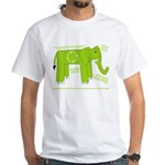 Elephant Facts White T-Shirt