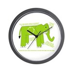 Elephant Facts Wall Clock