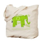 Elephant Facts Tote Bag