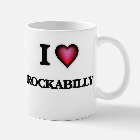 I Love ROCKABILLY Mugs