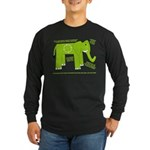 Elephant Facts Long Sleeve Dark T-Shirt