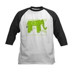 Elephant Facts Kids Baseball Jersey