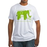 Elephant Facts Fitted T-Shirt