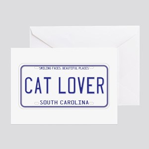 South Carolina Cat Lover Greeting Card