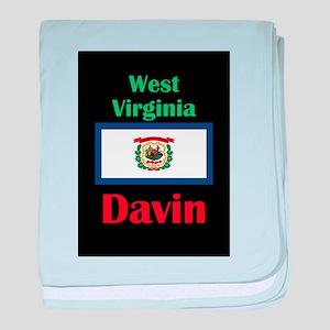 Davin West Virginia baby blanket