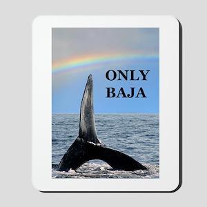 ONLY BAJA RAINBOW WHALE Mousepad
