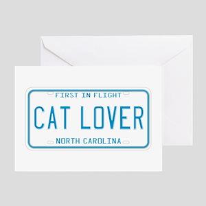 North Carolina Cat Lover Greeting Card