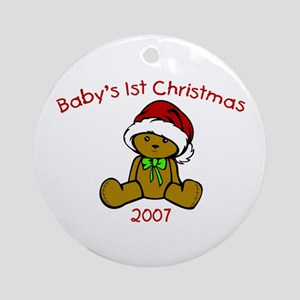 Baby's 1st Christmas 2007 Ornament (Round)