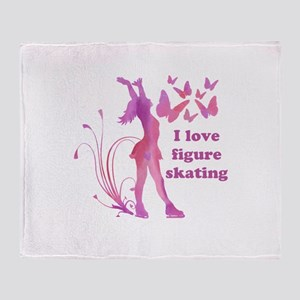 I Love Figure Skating Giftware Throw Blanket
