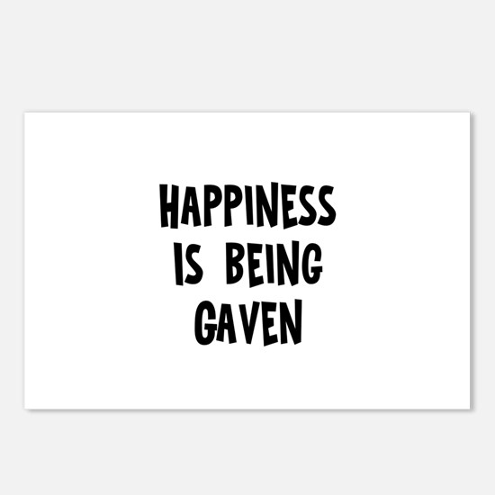 Happiness is being Gaven Postcards (Package of 8)