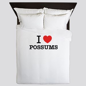 I Love POSSUMS Queen Duvet