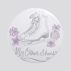 My Other Shoes Figure Skates Round Ornament