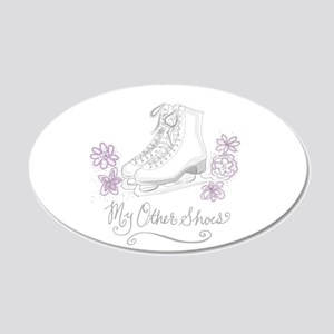 My Other Shoes Figure Skates Decal Wall Sticker