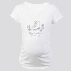 My Other Shoes Figure Skates Maternity T-Shirt
