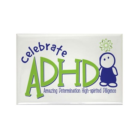 Celebrate ADHD Rectangle Magnet (10 pack)