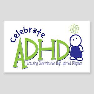Celebrate ADHD Rectangle Sticker