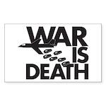 War is Death Rectangle Sticker